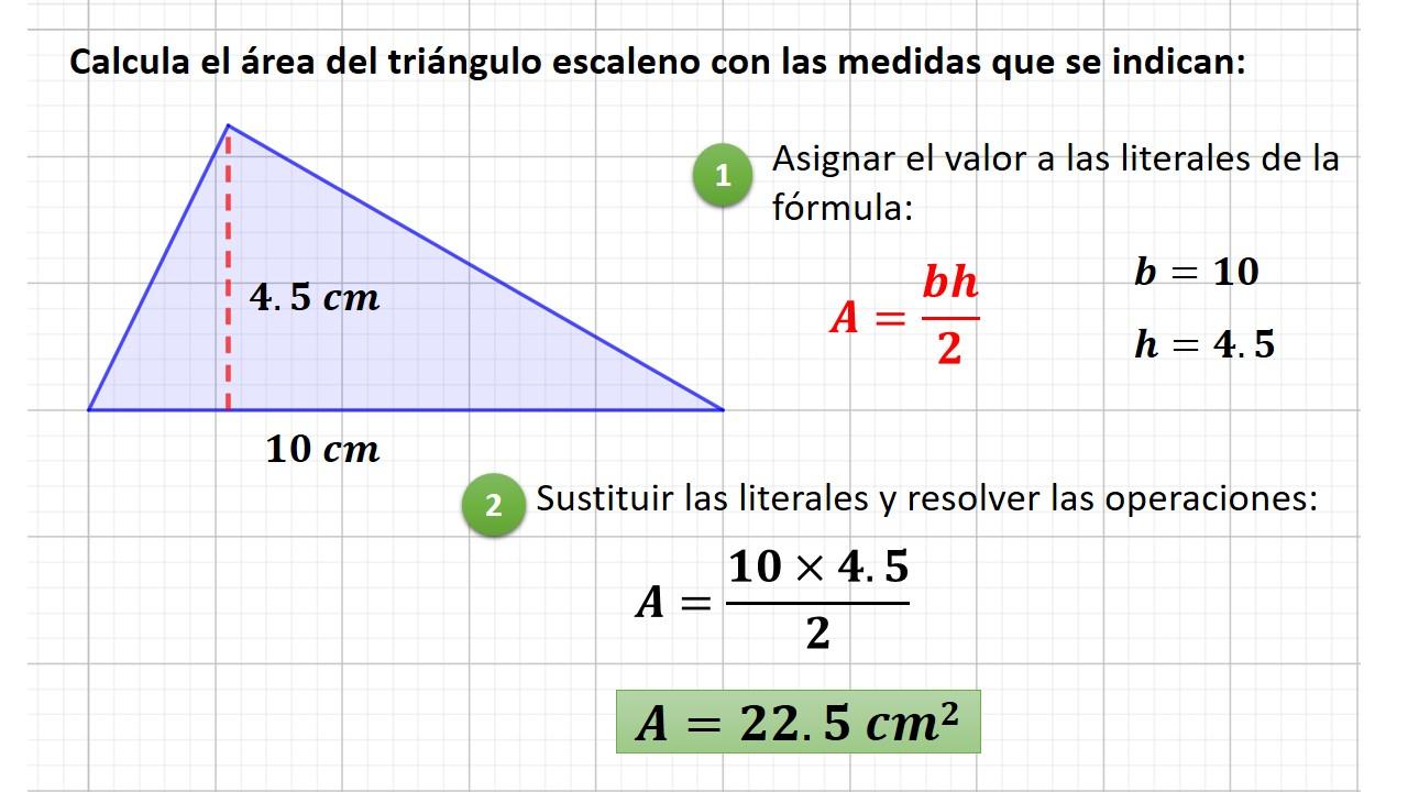 área del triángulo escaleno
