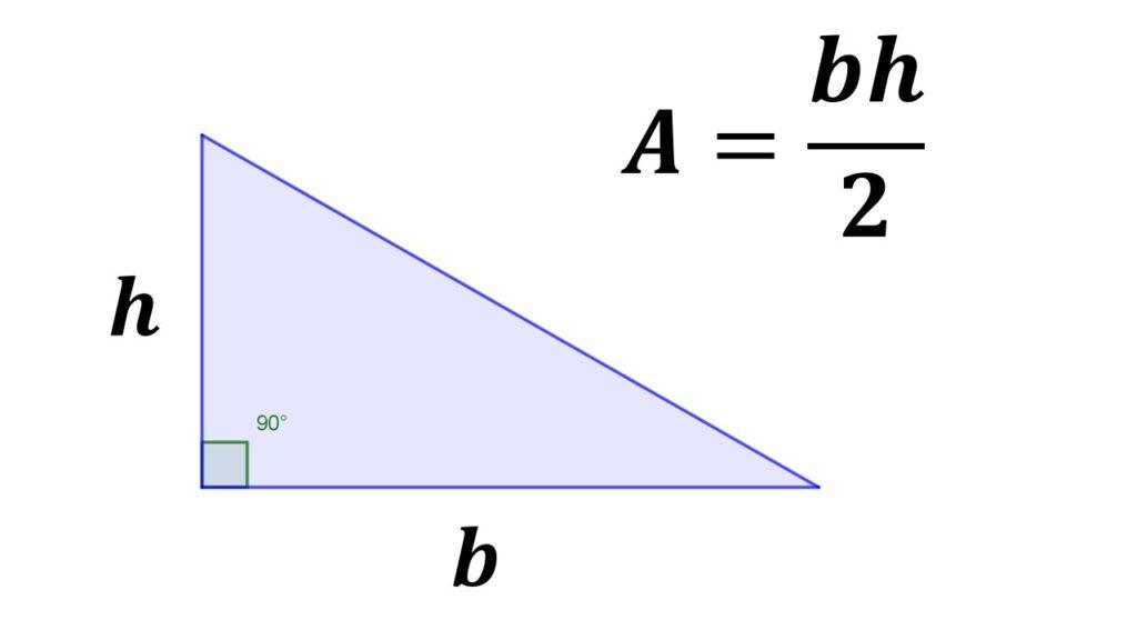 área del triángulo rectángulo