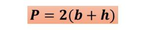 fórmula del perímetro del rectángulo