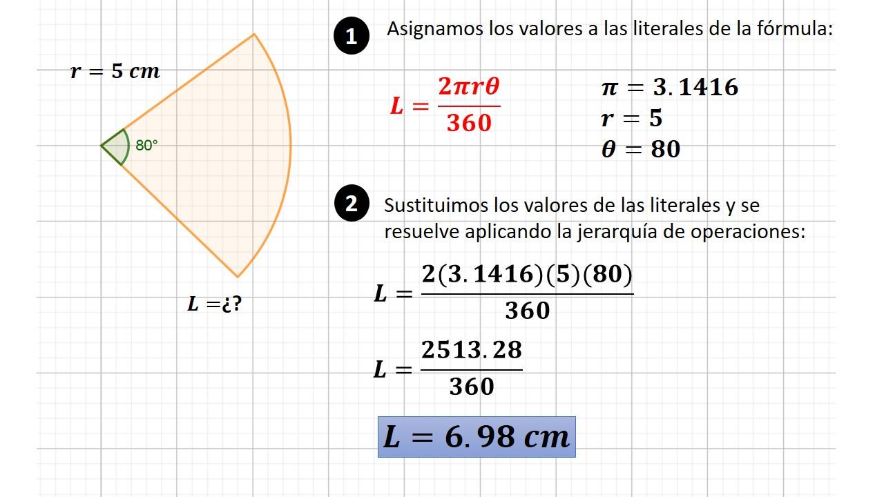 longitud del arco de circunferencia