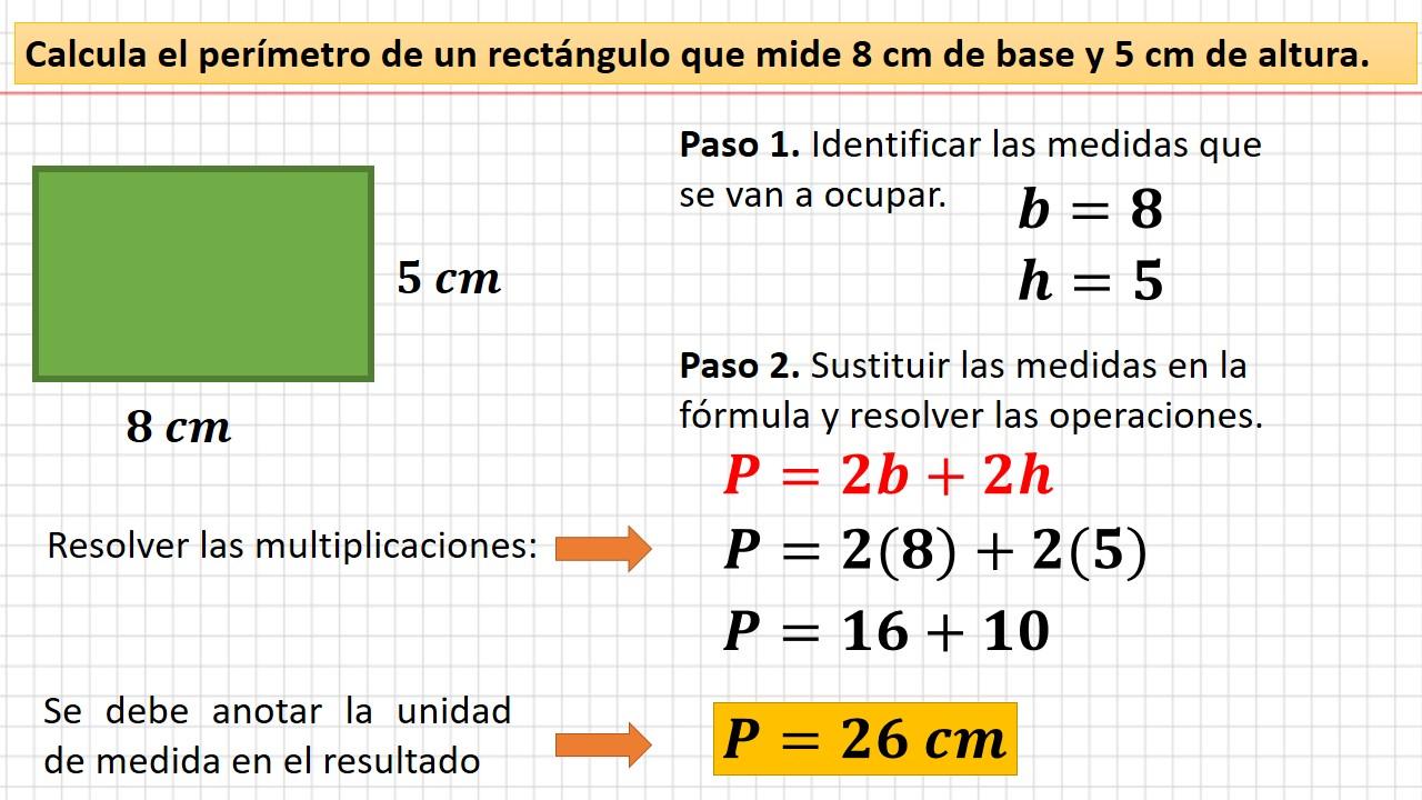 perímetro del rectángulo