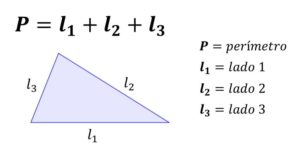 perímetro del triángulo escaleno