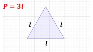 perímetro del triángulo equilátero