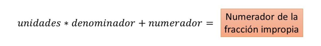 de numero mixto a fracción impropia