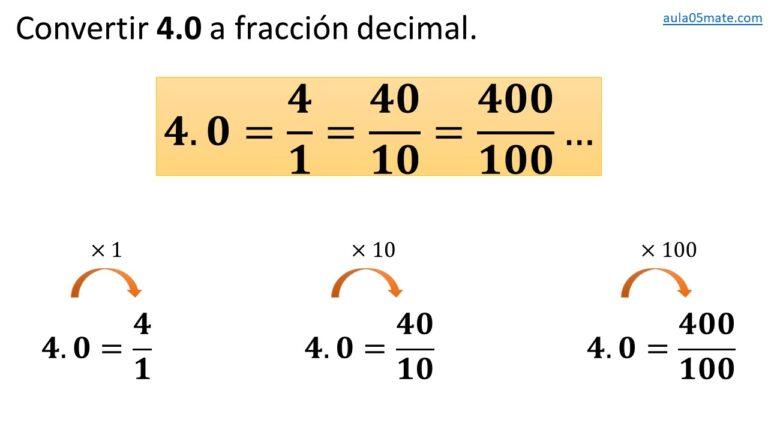 convertir de número decimal a fracción decimal